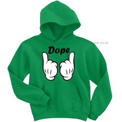 Mickey Mouse Hands Dope Hoodie