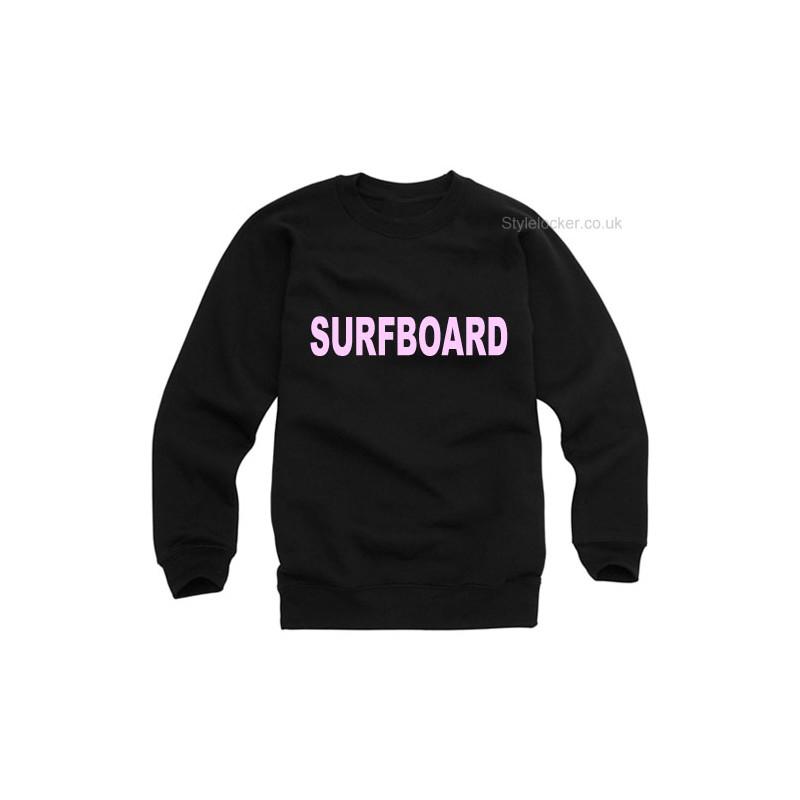 beyonce surfboard sweartshirt black