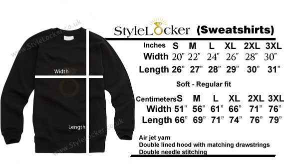 Sweatshirt-size chart