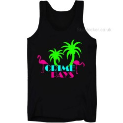 Crime Pays Miami Beach Vest Black