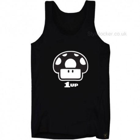 1UP Mario Level Up Mushroom Tank Top Vest
