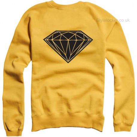Diamond Sweatshirt Yellow