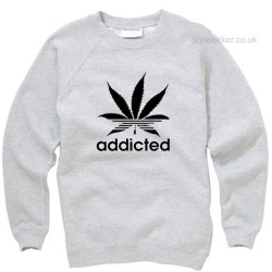 Addict Cannabis Leaf Sweatshirt