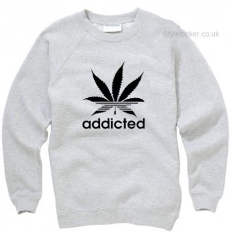 Addict Cannabis Leaf Sweatshirt