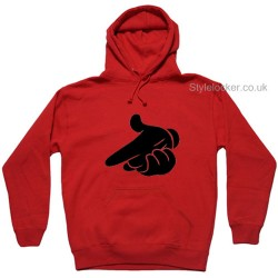 Mickey Mouse Hands Air Gun Hoodie