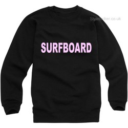 Beyonce Surfboard Sweatshirt Black