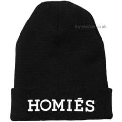 Homies Beanie Hat Black