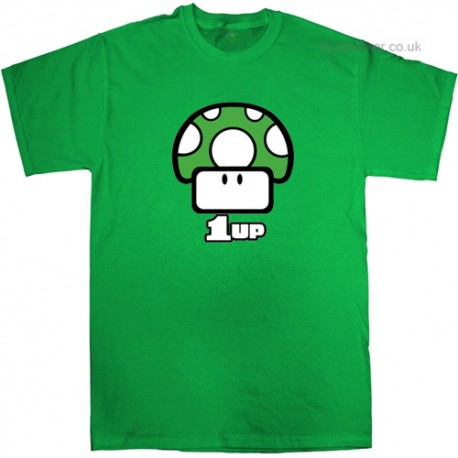 1up Mario Mushroom T-Shirt