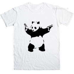 Banksy Panda  T Shirt