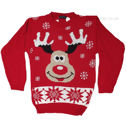 Reindeer Rudolph Red Christmas Jumper