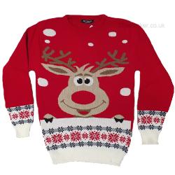 Cheeky Reindeer Rudolph Christmas Jumper