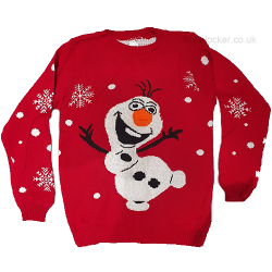 Olaf Frozen Red Christmas Jumper